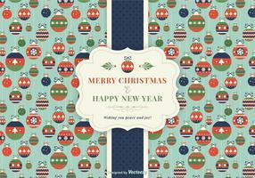 Retro cartolina di Natale vettoriale