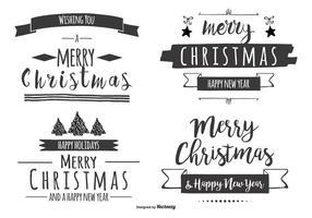 Lettering di Natale disegnato a mano