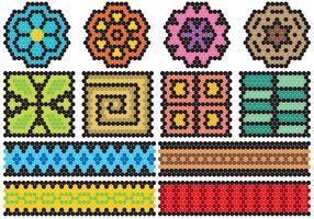 icone di arte di huichol vettore