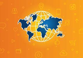 vettore gratuito di tecnologia globale