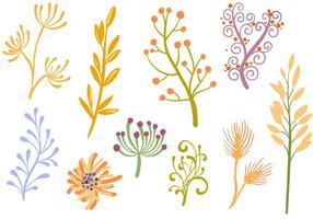 Vettori di ornamenti floreali gratis