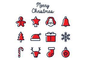 Icona di Natale lineare