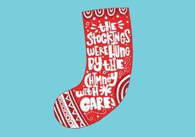Iscrizione calza di Natale