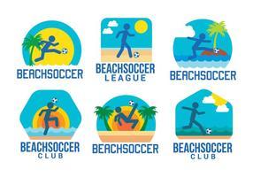 vettore di beach soccer