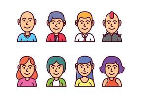 Set di icone avatar gratis vettore