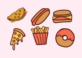 Pacchetto di cibo vettoriale