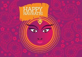 Vettore di Maa Durga in uno sfondo colorato