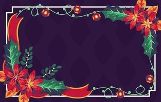 sfondo floreale di Natale con ornamento