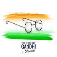 2 ottobre gandhi jayanti per sfondo pennello acquerello vettore