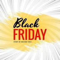 concetto di vendita venerdì nero con sfondo pennello