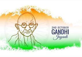 sfondo india per poster di gandhi jayanti vettore
