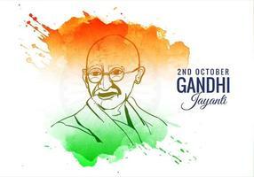 2 ottobre gandhi jayanti sfondo colorato splash vettore