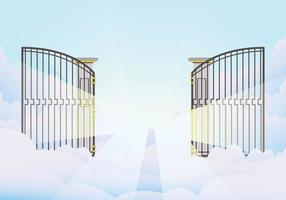Illustrazione di cancello aperto vettore