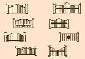 vettore di cancello libero
