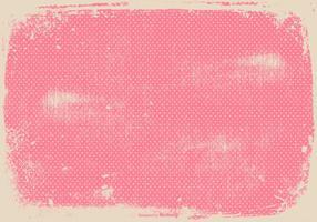 Sfondo di pois rosa grunge vettore