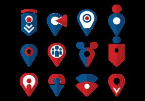 Vettore delle icone del punto di incontro