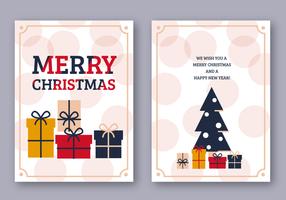 Merry Christmas Card gratuita vettore