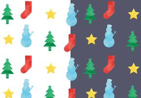 Acquerello Natale modello vettoriale gratuito
