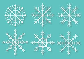 Vettore gratuito di fiocchi di neve