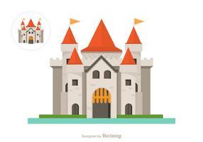 Icona di vettore del castello piatto