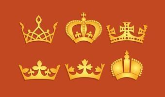 vettore di corona britannica d'oro