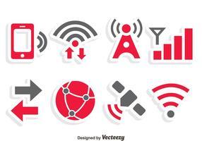 Vettore delle icone di comunicazione di Internet
