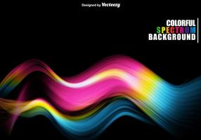 Spettro ondulato colorato astratto vettore