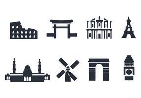 Icone vettoriali gratis punto di riferimento