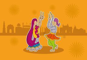 Vettore festival di danza indiana Garba