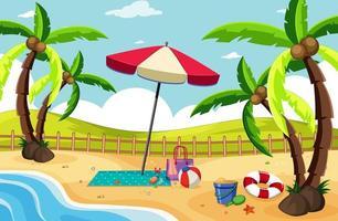 sfondo paesaggio spiaggia tropicale