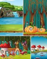 paesaggi di fantasia per il set di sfondo