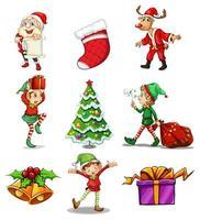 set di design di elementi di Natale