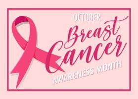 banner del mese di consapevolezza del cancro al seno