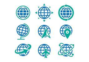 Vettore delle icone del globo