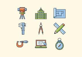 Icone di ingegnere gratuito vettore