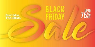 design di banner di vendita venerdì nero