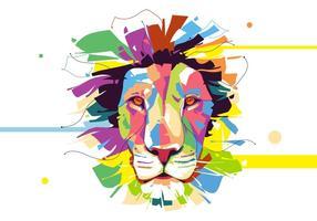 Lion - Animal Style - Ritratto di Popart vettore
