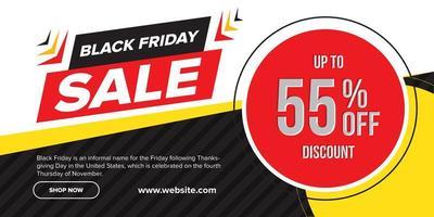 design di banner di vendita venerdì nero vettore
