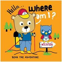 orso che fa escursioni nei boschi