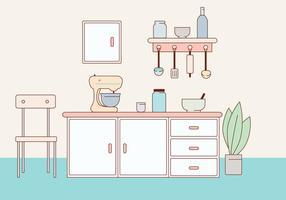 Illustrazione vettoriale di cucina