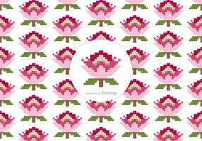 Protea Pixel Vector Pattern