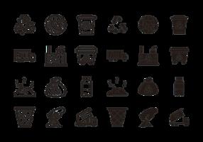 vettore di icone di discarica