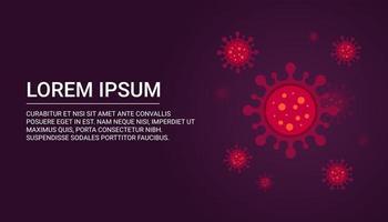 sfondo del virus con copia spazio per il testo.