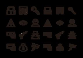 Vettore delle icone di furto