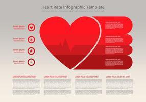 Modello piatto infografica frequenza cardiaca vettore