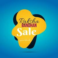 banner di vendita felice raksha bandhan vettore