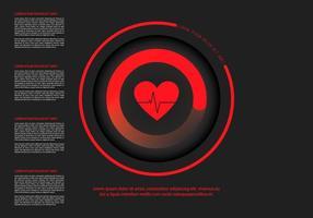 Modello infografica frequenza cardiaca vettore