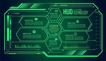 tecnologia del futuro del circuito binario vettore
