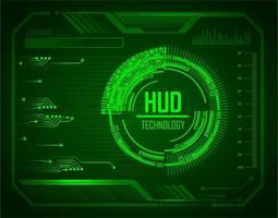 circuito binario mondo futuro tecnologia sfondo vettore