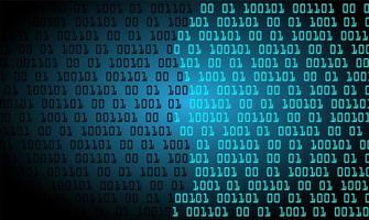 sfondo blu tecnologia binario cyber circuito futuro
